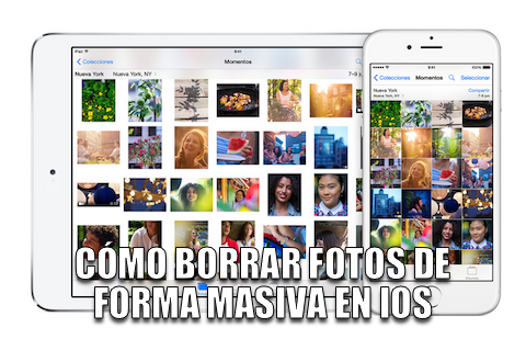 COMO BORRAR FOTOS EN iPhone iPad POR LOTES