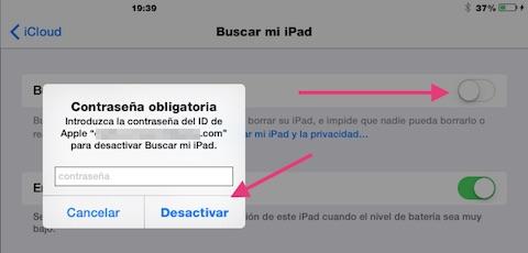 Desactivar_Buscar_mi_iPad