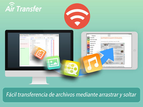 Air Transfer+ - Uso compartido de archivos:documento entre el PC y iPhone:iPad