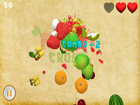 Fruit Crush 3D - Smash hit heroes saga