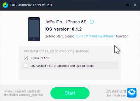 taig Jailbreak iOS 8.2 beta