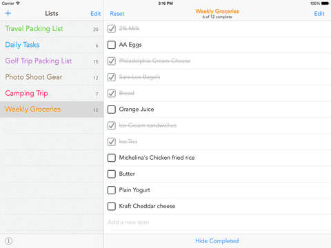 Check Check - beautiful checklists to organize your life