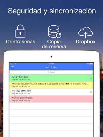Note-IFY (FNotes)- las notas de color con recordatorios, TextExpander y sincronizacion con Dropbox