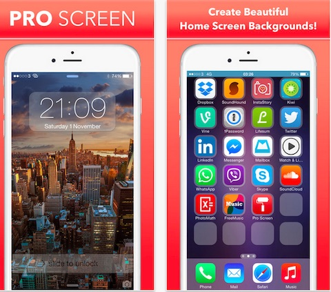 PRO Screen - Custom Home Screen and Lock Screen Wallpapers For iPhone, iPod Touch and iPad