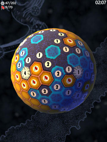 Planet Minesweeper - 3D Mines on a Hex Sphere