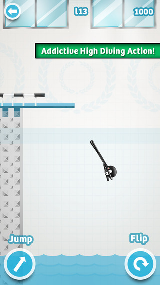 Stickman High Diving PRO - Touch, Jump & Flip