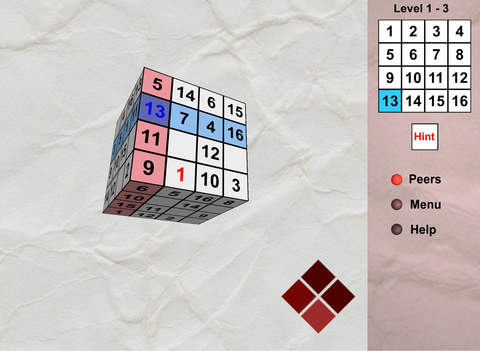 Sudocube - 3D sudoku cube for iPad