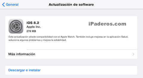 iOS 8.2 disponible