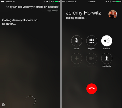 llamar altavoz iOS 8.3