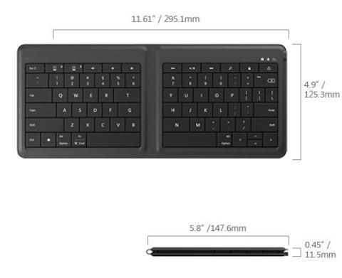 microsoft teclado plegable 6 medidas
