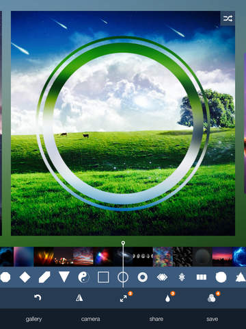 Reflection One Touch - Photo Editor with Random Geometric Shape Effects