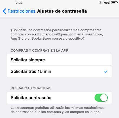 ajuste contraseña apps gratis