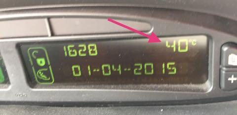 calor coche temperatura