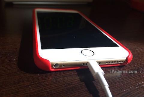 iPhone carga bateria mesita noche