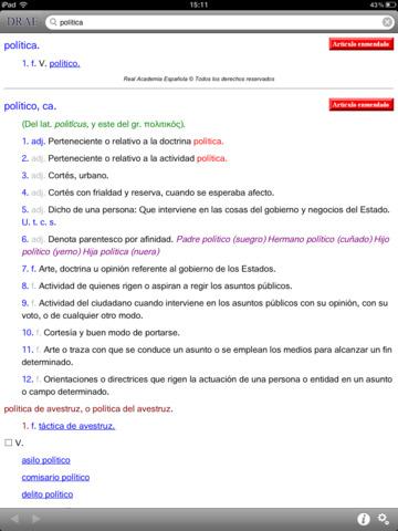 DRAE Diccionario de la Lengua Española