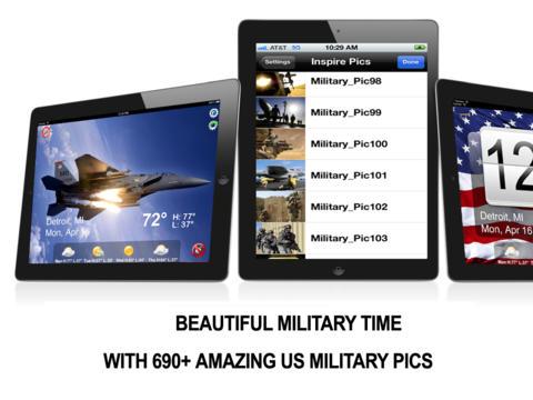 Military Alarm Clock & Time HD