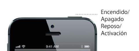 iPhone 5 boton reposo