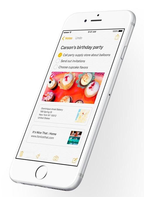 Notas iOS 9 1