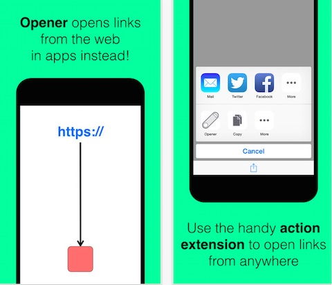 Opener ‒ open links in apps
