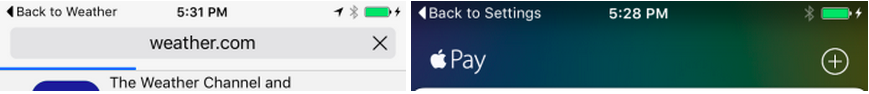 boton atras iOS 9