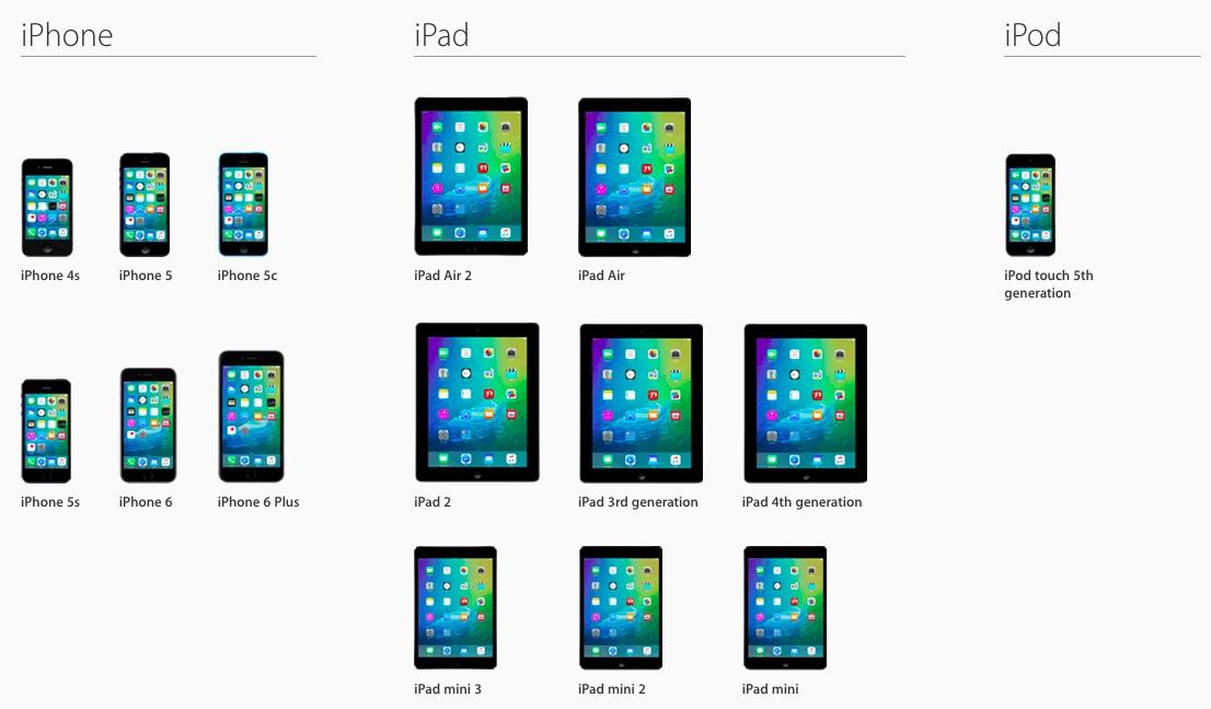 compatibilidad iOS 9