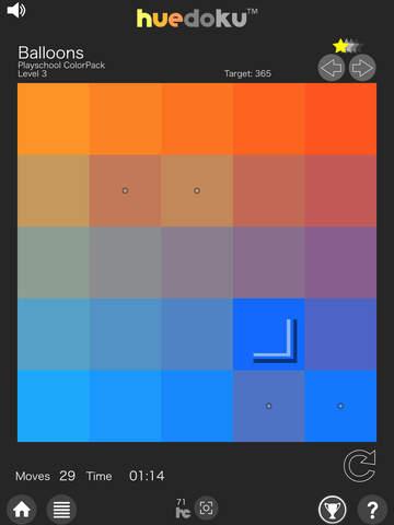 huedoku- a fun game that expands your mind