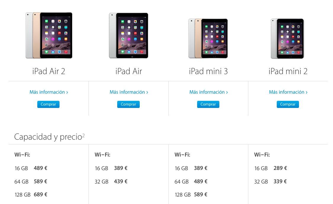 iPad modelos jun15