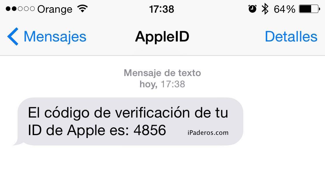 Apple ID verificacion dos pasos 4b tel
