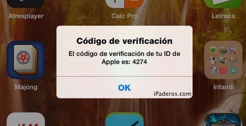 Apple ID verificacion dos pasos 5a disp