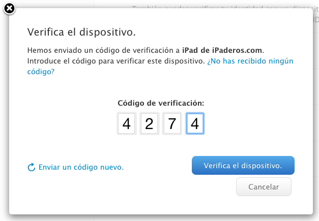 Apple ID verificacion dos pasos 5b disp