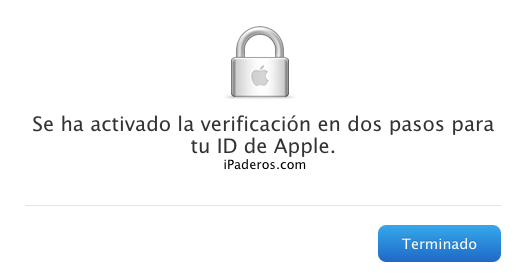 Apple ID verificacion dos pasos 9