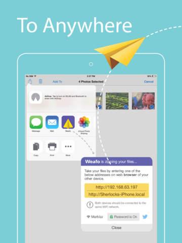 Weafo el mejor app de transferencia de archivos