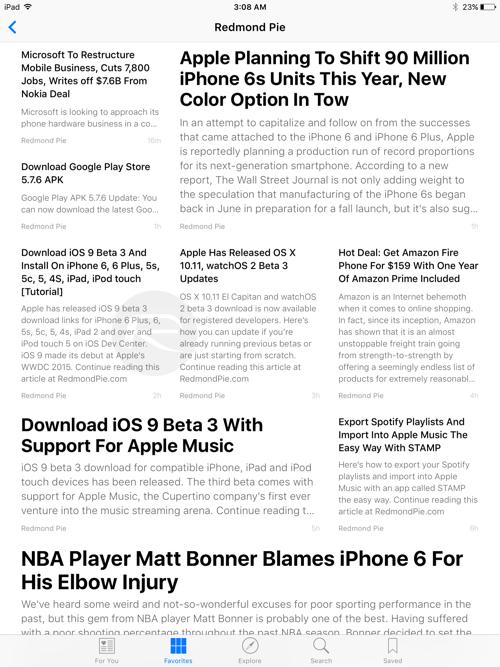 iOS 9 beta 3 6