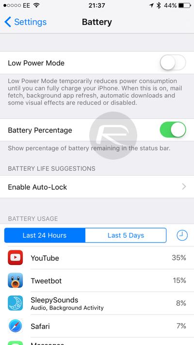 iOS 9 beta 3 7