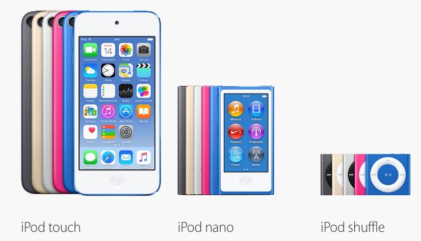 ipod touch nano shuffle