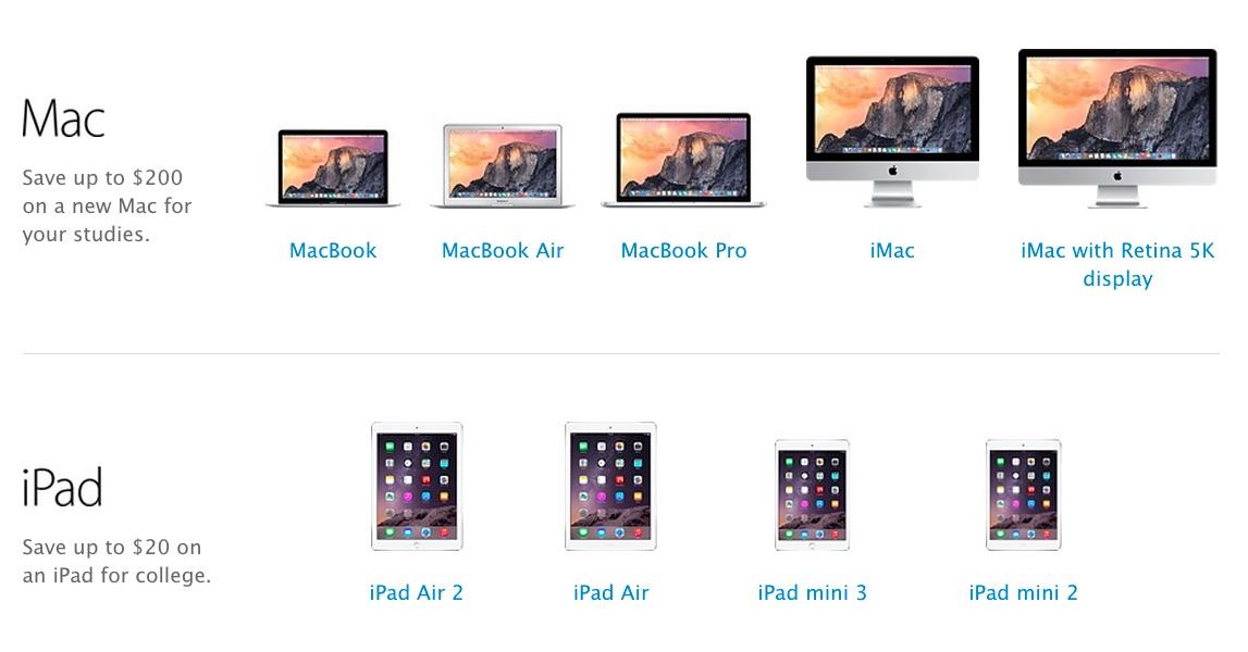Mac iPad vuelta a clase 2015