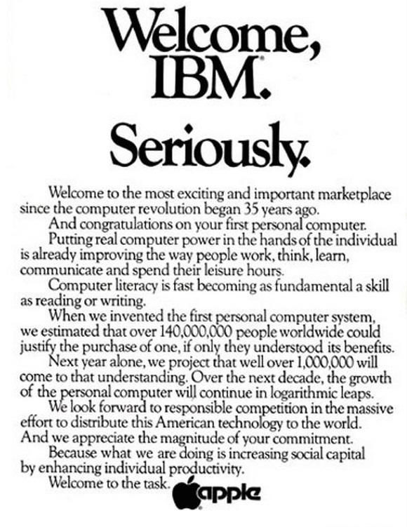 anuncio apple ibm