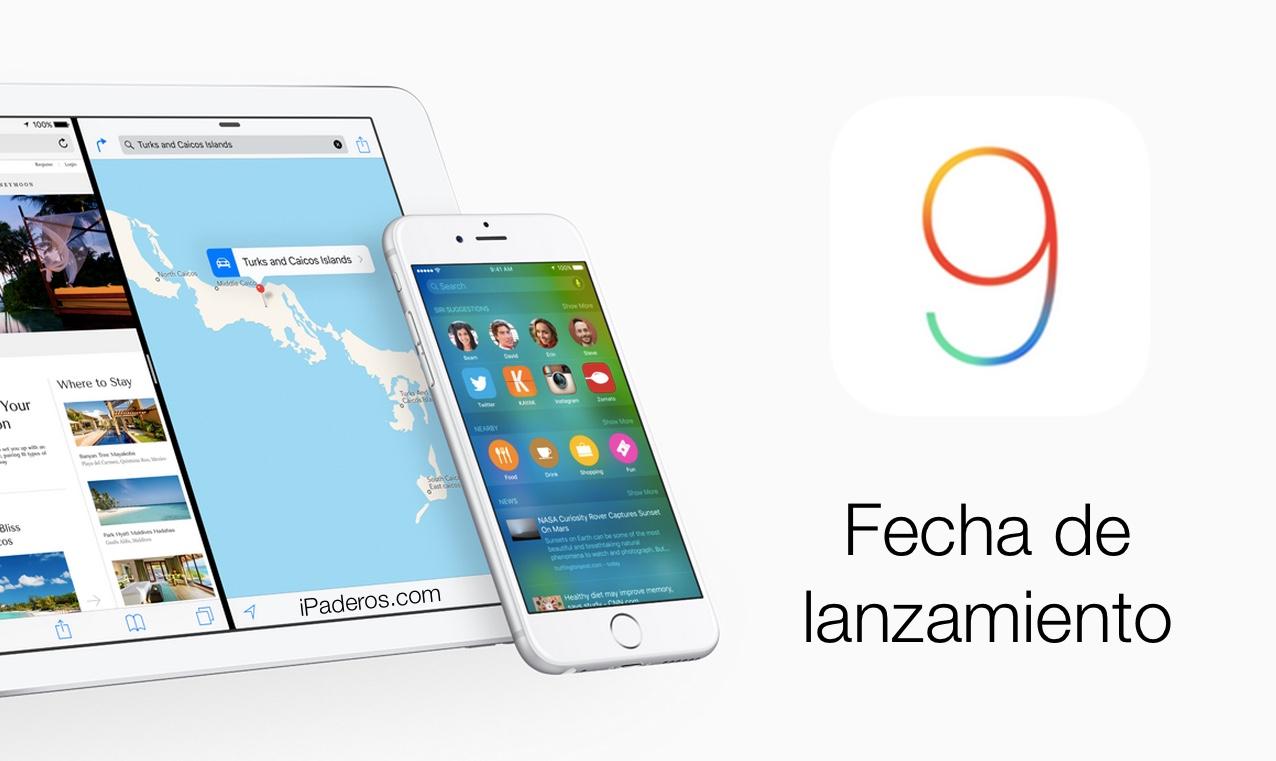 iOS 9 lanzamiento