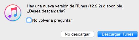 iTunes 12.2.2 descargar