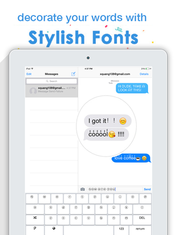 100 Stylish Fonts Keyboard