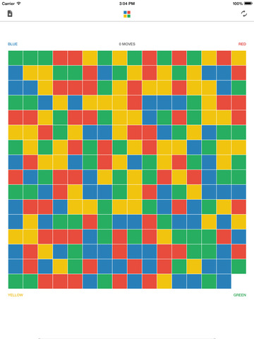 BRYG - A strategy board game of colored blocks