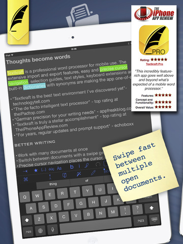 Textkraft Lite - Write, Research, Correct & Share