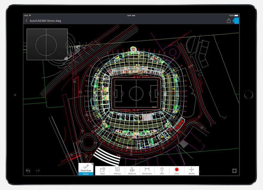 autocad en iPad Pro