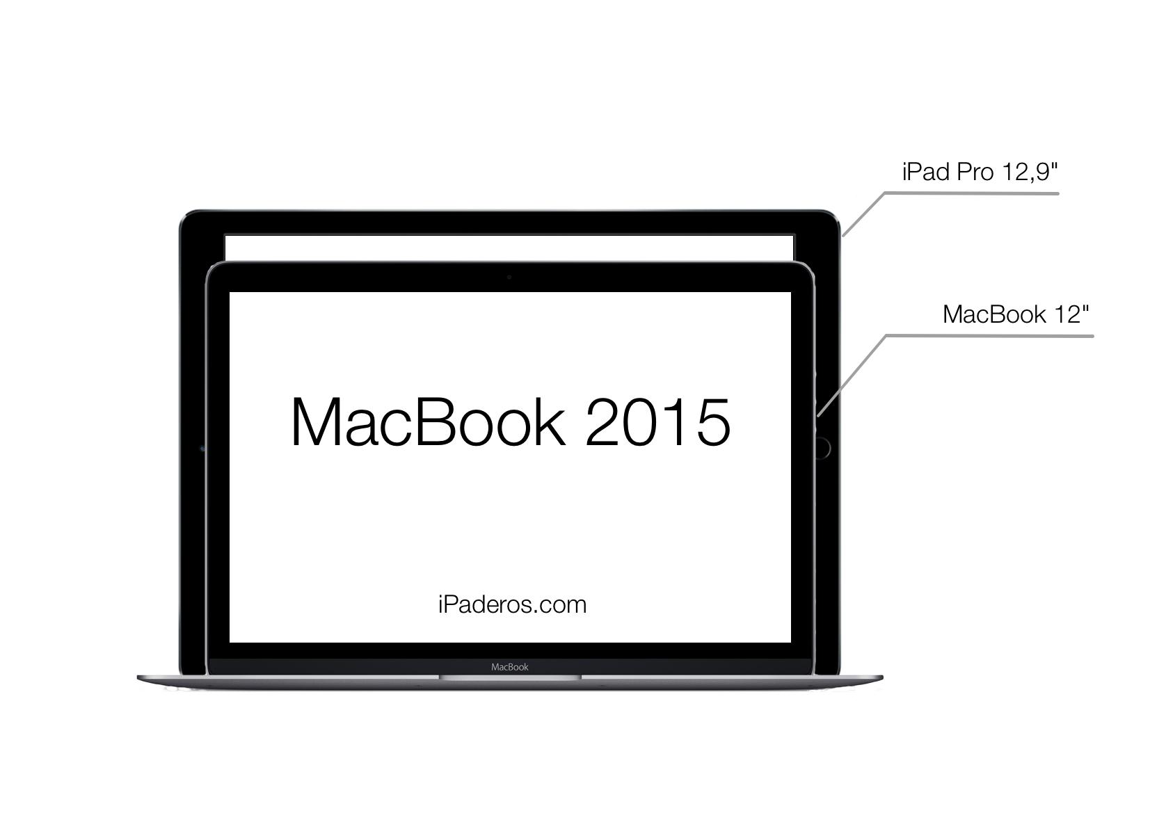 iPad Pro vs MacBook 2015 size comparison