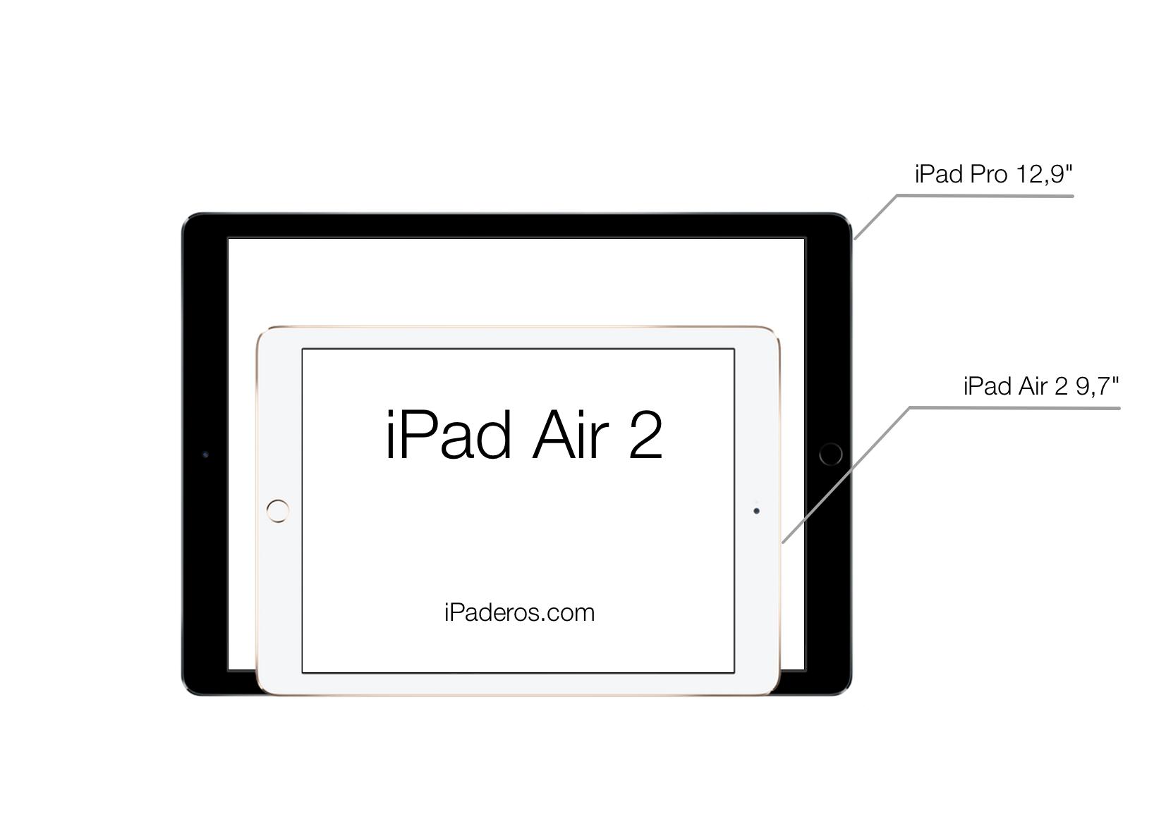 iPad Pro vs iPad Air 2 thickness comparison