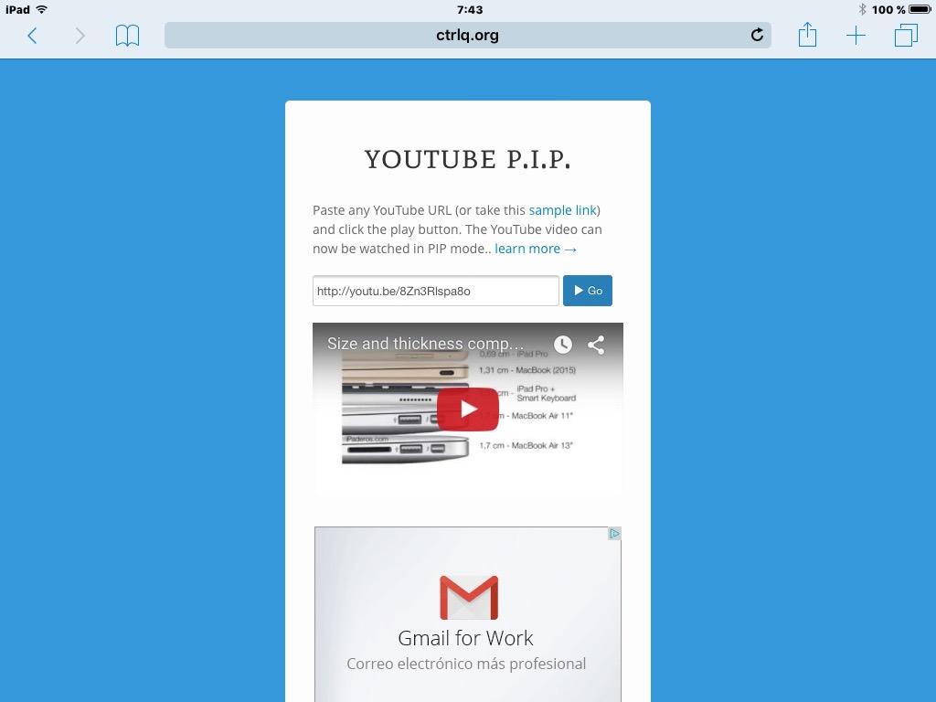youtube PIP 1