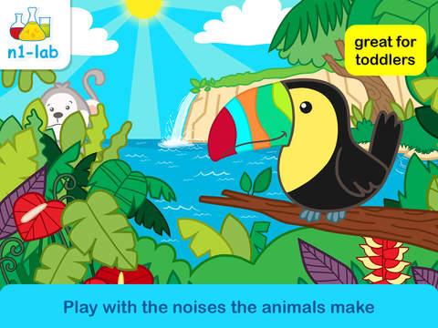 Nano Oso Animales del Bosque Tropical