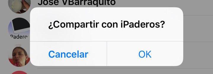 cuadro dialogo iOS 9
