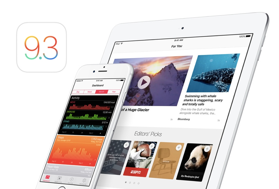 iOS 9.3 iphone ipad