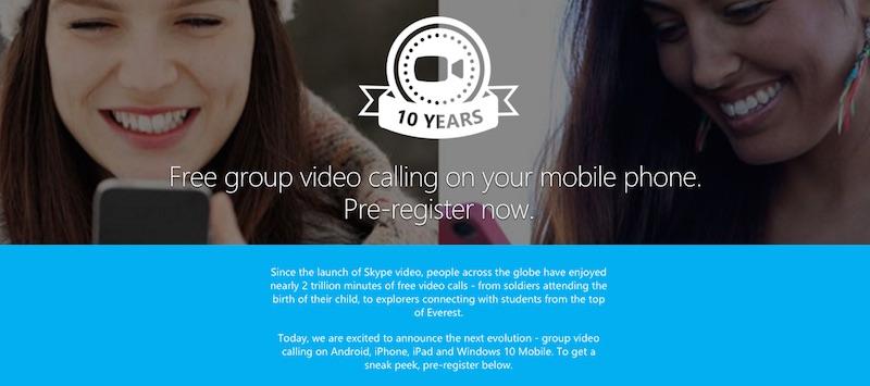 videollamadas grupo skype